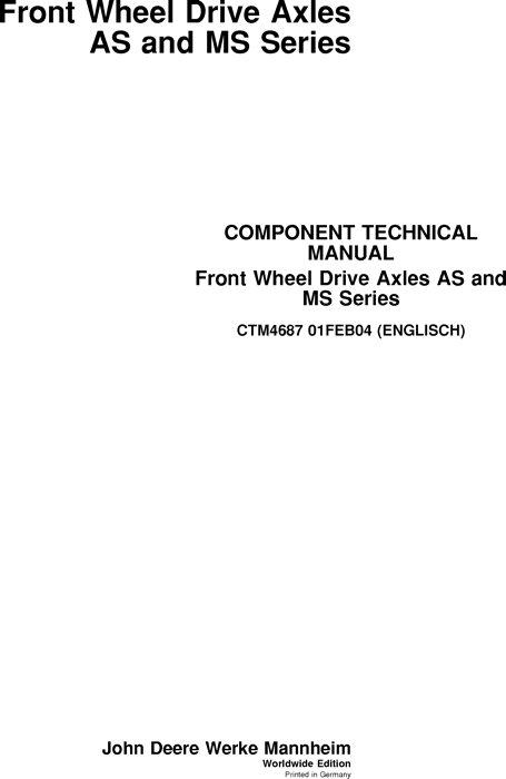 John Deere - Technical Information Bookstore on